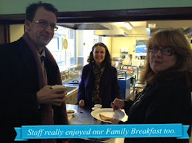 Staff really enjoyed our Family Breakfast, too.