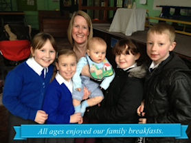 All ages enjoyed our family breakfasts.