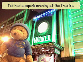 Ted had a superb evening at the theatre